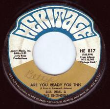 "Bill Deal & The Rhondels Are You Ready For This / What Kind Of Fool 7"" Heritage"