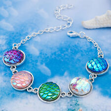 RESIN MERMAID FISH/DRAGON SCALE BRACELET WITH FREE GIFT BAG