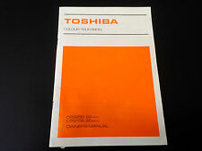 Toshiba Colour Television TV Vintage Original Owner's Manual C2225B C2625B