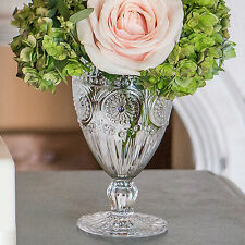 24 Clear Glass Goblet Vintage Style Wedding Centerpiece Decorations Favors Lot