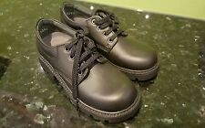 "NEW no BOX ""CLARKS"" BOYS BLACK LEATHER SHOES, Size 10.5 D"