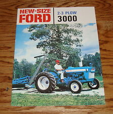 1965-1975 Ford Tractor 2-3 Plow 3000 Sales Brochure 66 67 68 69 70 71 72 73 74