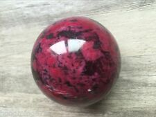 Natural Peach Blossom Stone Jade Ball Onl Crystal Sphere Healing 50mm AAA+++