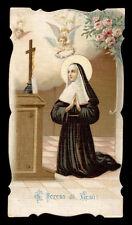 antico santino cromo-holy card S.RITA DA CASCIA