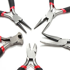 "5pcs JEWELERS PLIERS SET JEWELRY MAKING BEADING WIRE WRAPPING HOBBY 5"" PLIER US"