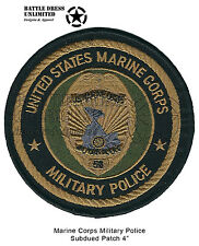 Patch: Marine Corps Military Police Seal, Combat Subdued (USMC MP MPI Badge)