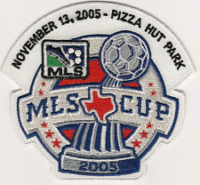 MLS MAJOR LEAGUE SOCCER CUP PIZZA HUT PARK 2005 TEAM SPORTS LOGO PATCH