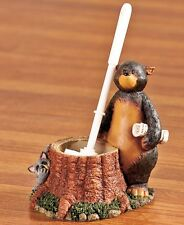 Nature Calls Bear Toilet Brush Cleaner W/ Holder Lodge Cabin Bathroom Home Decor