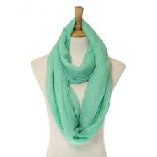 Avocado Colored Solid Infinity Scarf