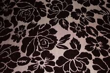 Maroon Floral Burnout Stretch Velvet #3 Black Backing Fabric Sewing Dress BTY
