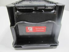 Free Ship, Saturn Black Polyethylene Attached Lid Fastener Box, Plastic Tote