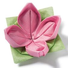 Origami Wedding Marraige Party Favor Gift Napkins hotel restaurant Seerose Pink