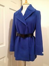 Calvin Klein Wool Blend Coat Peacoat Trench Double Breasted Blue 2 (XS-S)