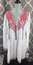 Johnny Was Kura Tunic , Linen And Silk, Size Large MSRP$288