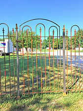 """Standard Wrought Iron Gate works w/ 5' Tall Fence - Installed 65"""" Tall"""