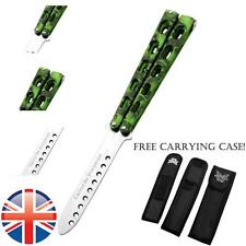 *UK Seller* Metal Steel Butterfly Knife Trainer Practice Tool Toy Blunt Balisong