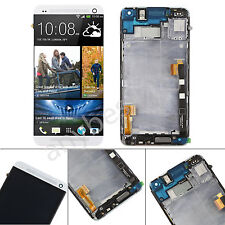 LCD Display Touch Screen Digitizer Assembly + Frame Repair for HTC One M7 Silver