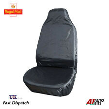 HEAVY DUTY FRONT SEAT COVER UNIVERSAL CAR VAN BLACK WATERPROOF PROTECTOR MUDDY