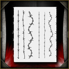 Barbed Wire Airbrush Stencil Template Airsick
