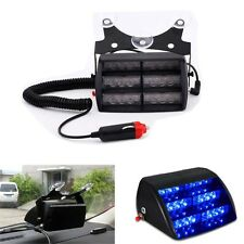 18 LED Blue Car Truck Auto Emergency Warning Dashboard Flash Strobe Light