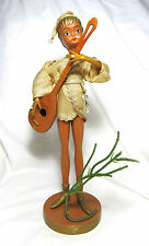 Vintage Tiilso Hong Kong Golden Fantasy Pixie Elf Figure Playing Lute Guitar *