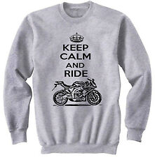 APRILIA RS4125 2012 KEEP CALM P - NEW COTTON GREY SWEATSHIRT ALL SIZES IN STOCK