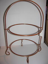 Plate Rack, Plate Stand, Copper, Wrought Iron, New