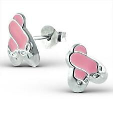 Girls Childrens Kids Sterling Silver Ballet Shoes Stud Earrings - Gift Boxed
