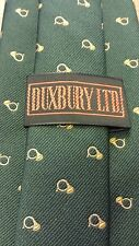 "Vintage, Duxbury Ltd, Silk Blend, Green/Gold French Horn Theme, Skinny Tie (55"")"