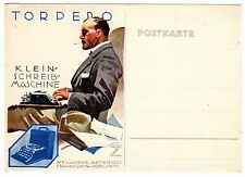 POSTCARD GERMAN HOHLWEIN SIGNED ADVERTISING TORPEDO TYPEWRITER