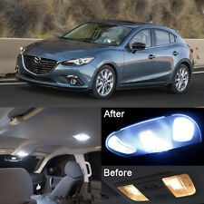 Xenon White LED Interior Package kit + License Light LED For Mazda 3 2014-2016