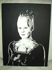 Canvas Painting Star Trek Borg Queen Portrait B&W Art 16x12 inch Acrylic