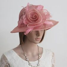 New Woman Church  Kentucky Derby Wedding Cocktail Party Sinamay Dress Hat 174539