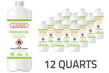 IGNIS Bio Ethanol Fuel 12 Pack Ethanol fireplace fuel 1 Quart each BIO FUEL