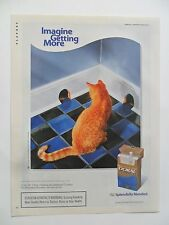 2003 Print Ad Doral Cigarettes ~ Imagine Getting More Cat with Two Mouse Holes