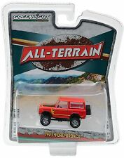 1:64 GreenLight *ALL-TERRAIN R4* Orange 1977 Ford Bronco 4x4  *NIP!*