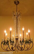 Vintage Lighting 1950 Mid Century Hollywood Regency. ONE chandelier. TWO sconces