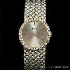 AUTHENTIC PIAGET 18K WHITE GOLD AND DIAMOND LADIES MANUAL WATCH W/ BOX AND LINKS