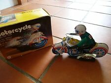 Collectible Tin Toy - Wind-Up Motorcycle [c1]