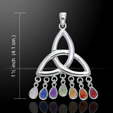 Celtic Triquetra Trinity Knot .925 Sterling Silver Pendant by Peter Stone
