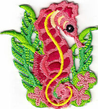 SEAHORSE, STARFISH & SEAWEED - SEA CREATURES -OCEAN -  IRON ON EMBROIDERED PATCH