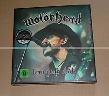 MOTORHEAD CLEAN YOUR CLOCK pop up 2lp pin cd dvd blu ray and more