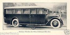 Rheinische Kraftwagen Gesellschaft Reklame Historie 1927 Düsseldorf Bus Daag ad