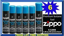 Genuine Zippo Premium Lighter Butane Fuel Gas Refill 1.48 oz. 42 g., (6 Cans)