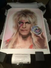 "David Bowie, J J Adams Signed Limited Edition ""Goblin King"" In Colour"
