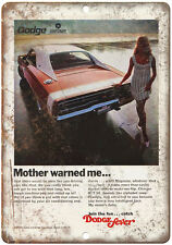 """1970 Dodge Chrysler Charger Vintage Ad 10"""" x 7"""" Reproduction Metal Sign"""