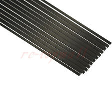 5pcs 1mm*4mm*500mm Flat Carbon Fiber Rods for Sand-Table RC Airplane