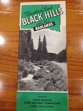 VTG Rare Brochure Black Hills Badlands 1940 50s South Dakota State Highway Dept