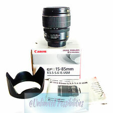 CANON EF-S  15-85 f/3.5-5.6 IS USM Includes Lens Hood EW-78D