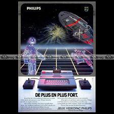 PHILIPS VIDEOPAC Vintage Game Computer 1982 : Pub / Publicité / Advert Ad #A1318
